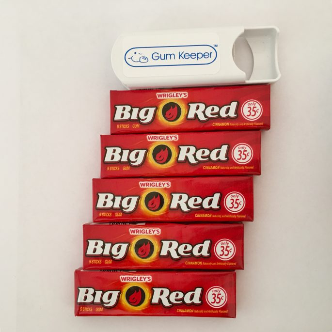 Gum Keeper + 5 packs of Big Red Gum